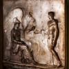 Frederich Wilhelm Eugen Doell, Minerva handing Pegasus over to Bellerophon, marble relief, Gotha, Thüringen, Germany