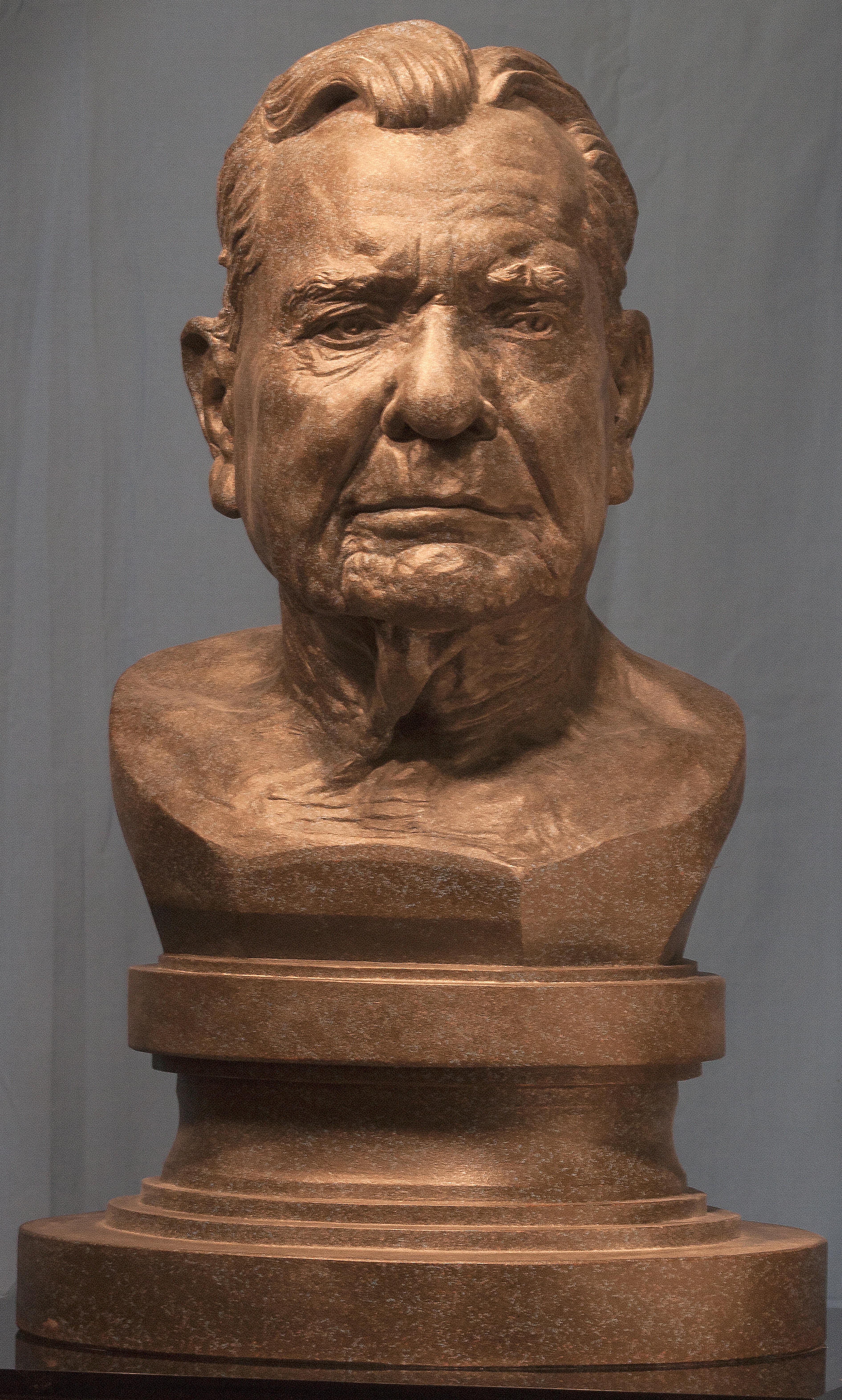 Mr. Flues, cast with patina