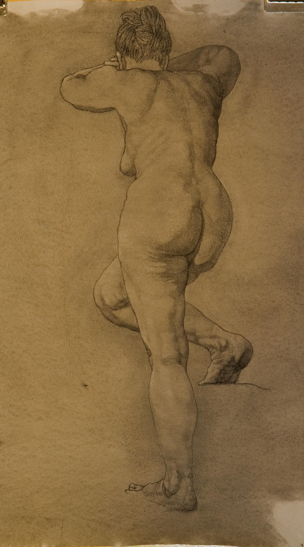 Charcoal drawing of life model, Paula