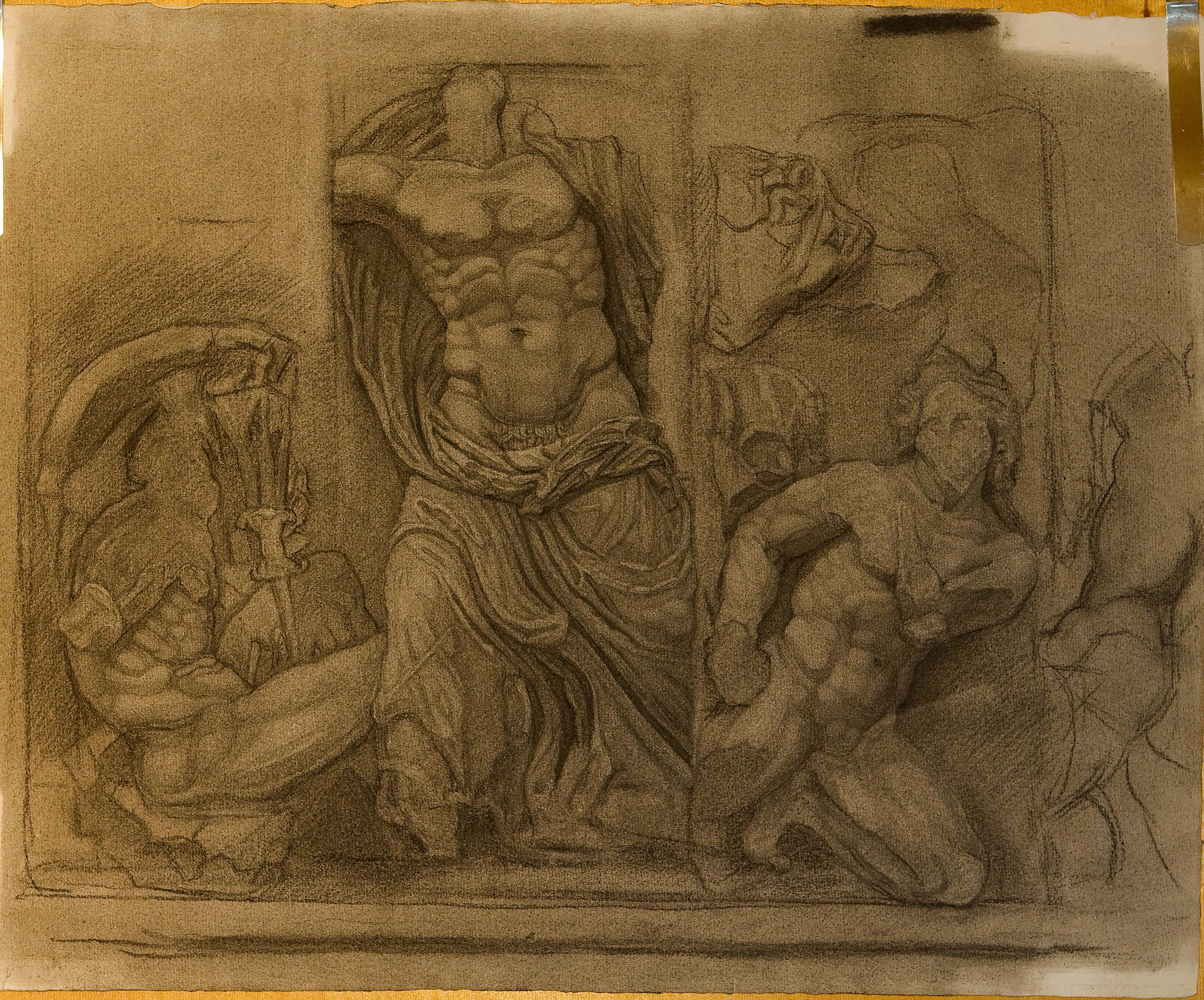 Zeus fights against Poryphion
