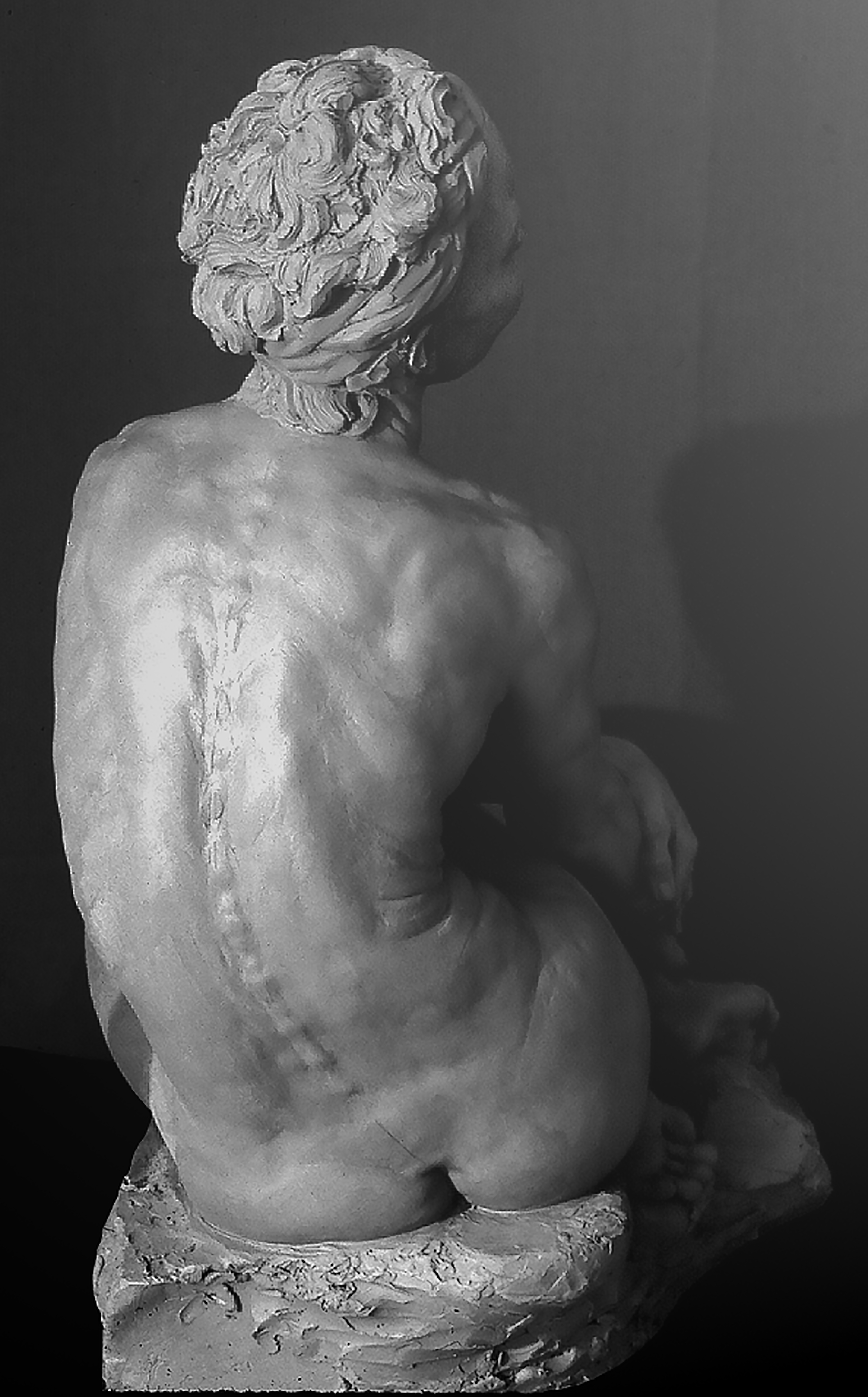 Seated Siren, back view