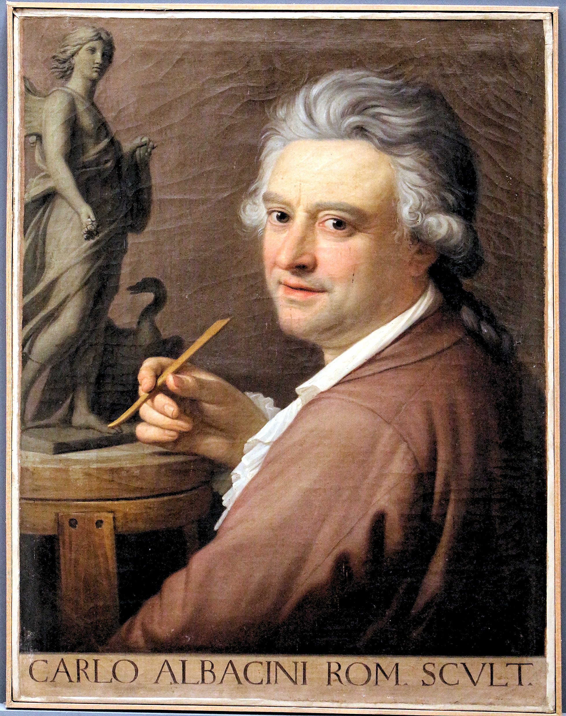 Painting by Stefano Tofanelli, attrbuted, portrait of the sculptor - Carlo Albacini
