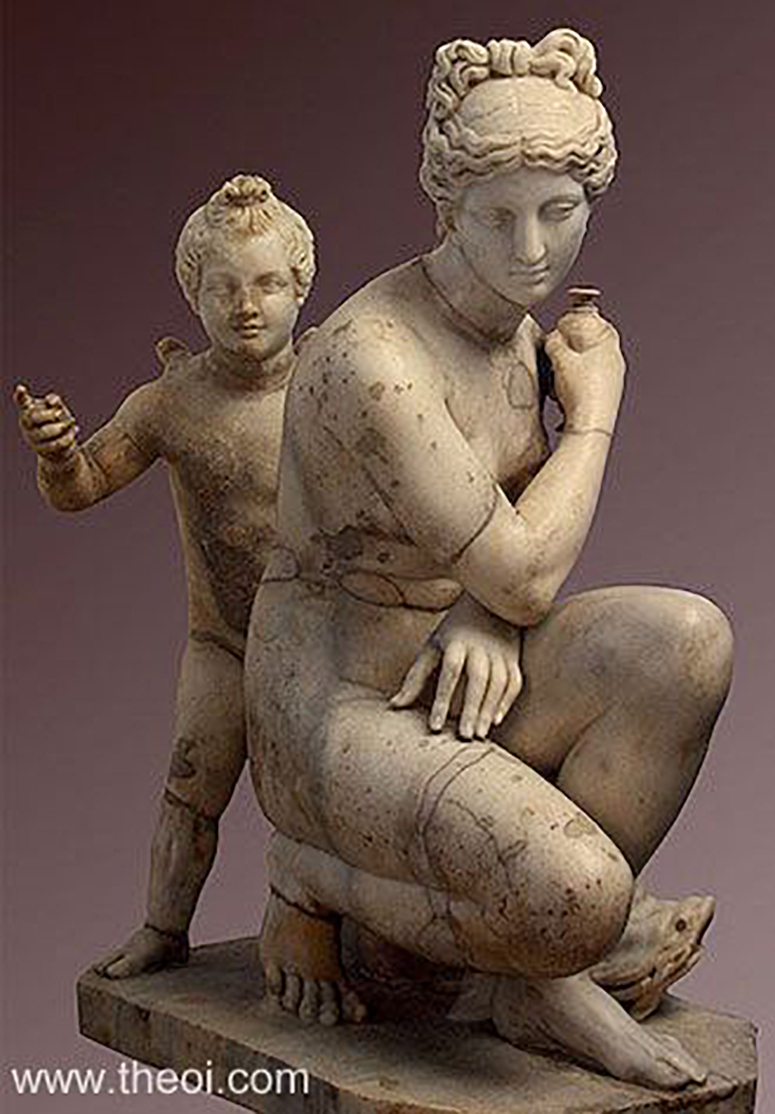 Aphrodite and Eros, State Hermitage Museum, St. Petersburg, Russia, After Doedalas of Birthynia, 1,