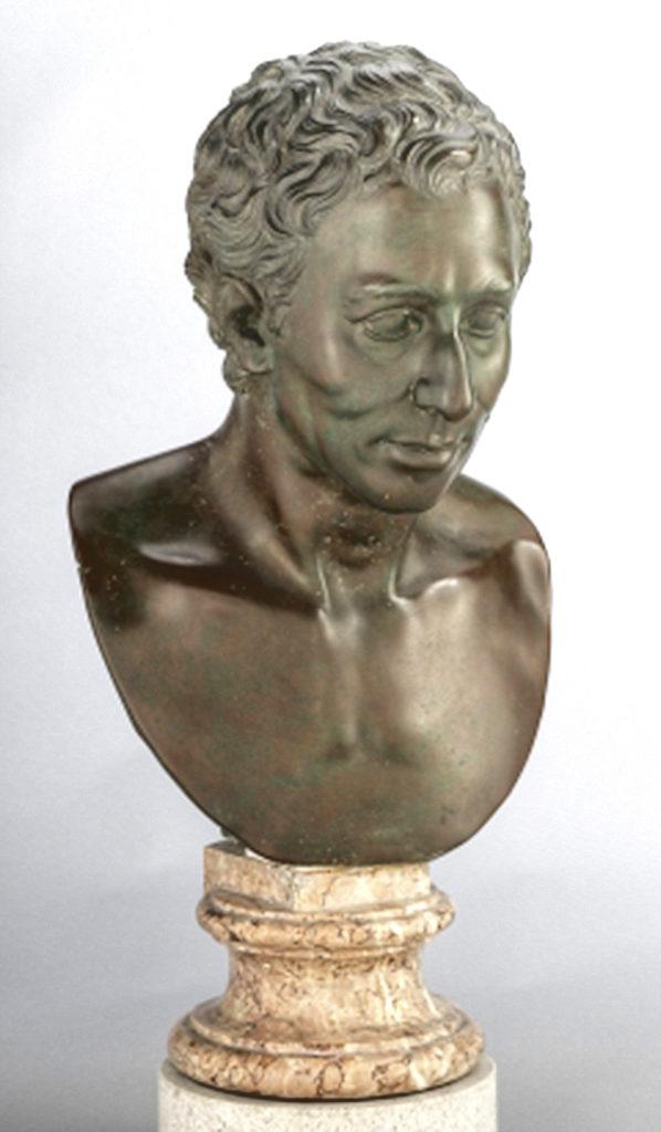 1777-78-Louis Valadier's copy in bronze of Frederich Wilhelm Eugen Doell's marble of Johann Joachim Winckelman