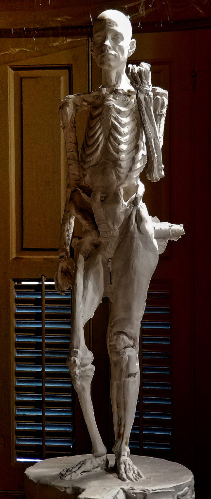 Anatomy Figure Class Demonstration Sculpture, Plaster - unchased - raw, Ana Russian Front View 4