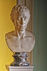 Frederich Wilhelm Eugen Doell, sculpture portrait bust of Johann Joachim Winckelmann, Friedenstein Castle, Schloss Friedenstein, Gotha, Thüringen