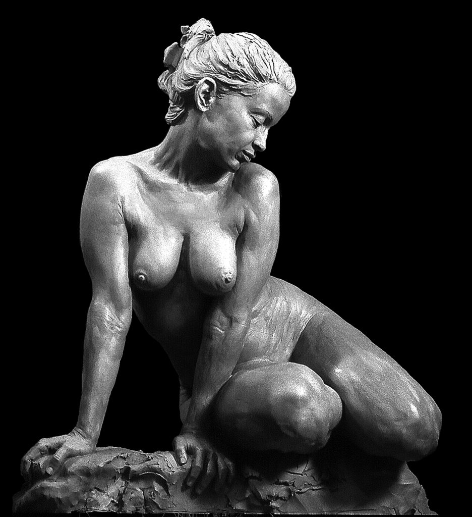 Salome – Life  Model – Lea – Salome – Life  Model – Lea – Front View Clay, Before Plaster Casting; s