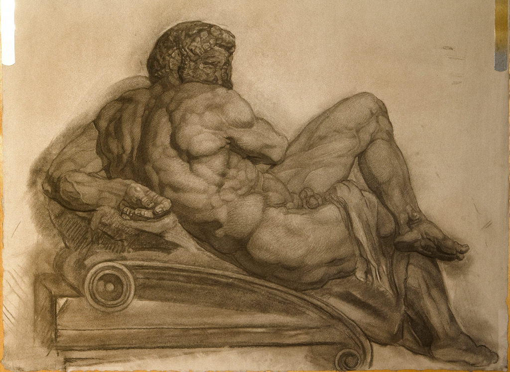 Day figure by Michelangelo, ca. 1526-1531, from the Giuliano de' Medici tomb in the Medici Chapel, F