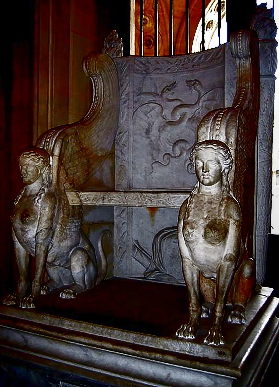Greco-Roman Sphinx Chair, Louvre Museum, Paris