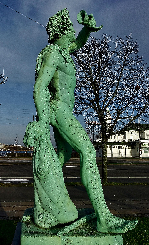 Andreas Johnsen Kolberg, – sculptor, Drunkin Faun, Copenhagen, Denmark, Andreas Johnsen Kolberg - En