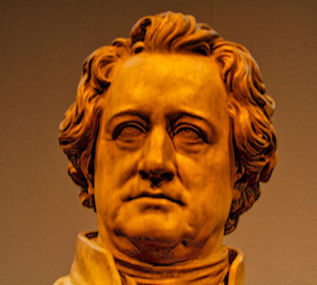 Ernst Friedrich August Rietschel - Portrait Bust of Goethe