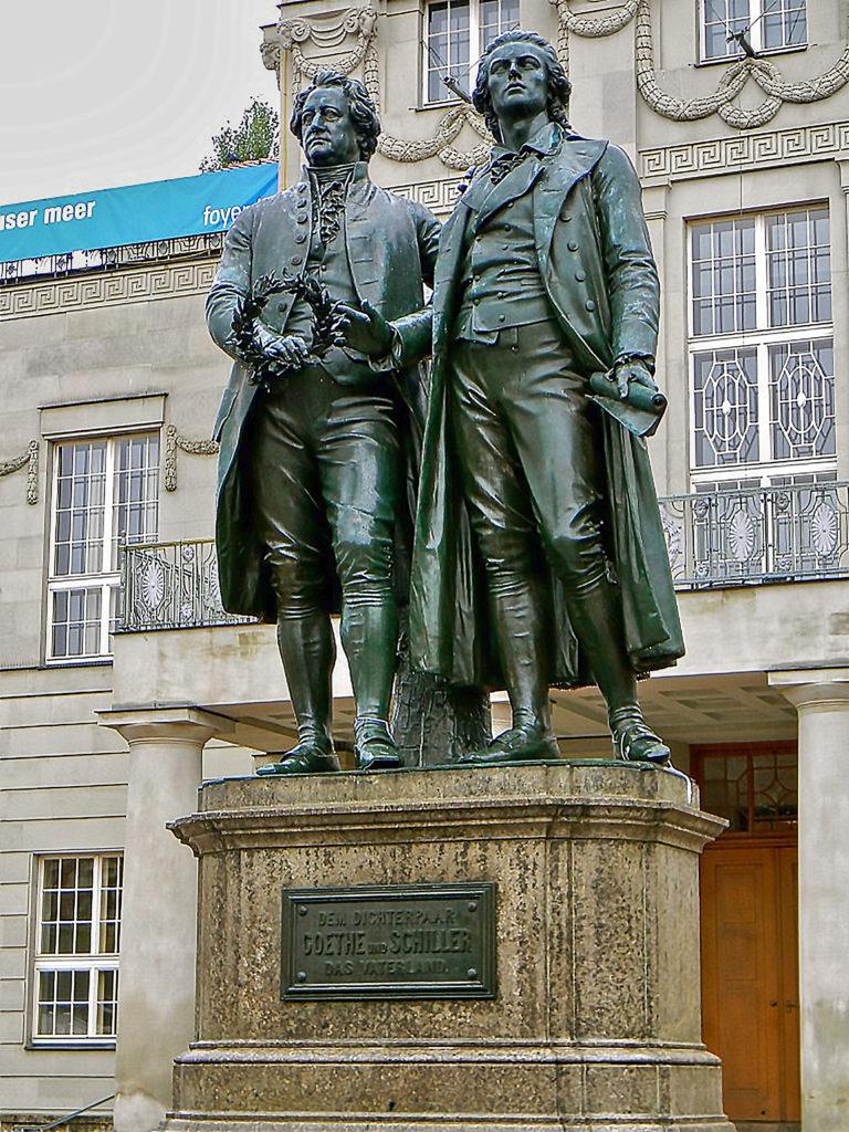 Ernst Friedrich August Rietschel Goethe Schiller Monument Weimar Thüringen, Germany, c
