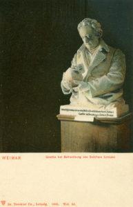 Goethe Betrachtung von Schillers Schädel