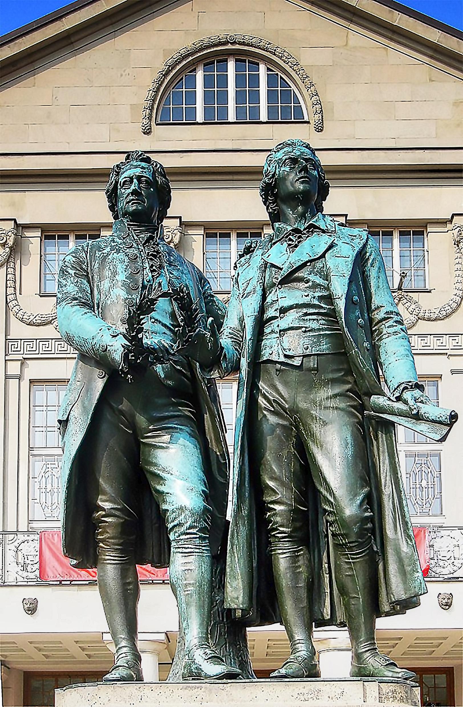 Ernst Friedrich August Rietschel Goethe Schiller Monument Weimar Thüringen, Germany, a