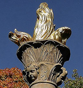 The Flames Bowl On Angel Heads - Friedrich Wilhelm Döll - Symbolize The Emanation Of The Christian Faith Over Thuringia Unity Of Lutheran Reformed and Catholic Church