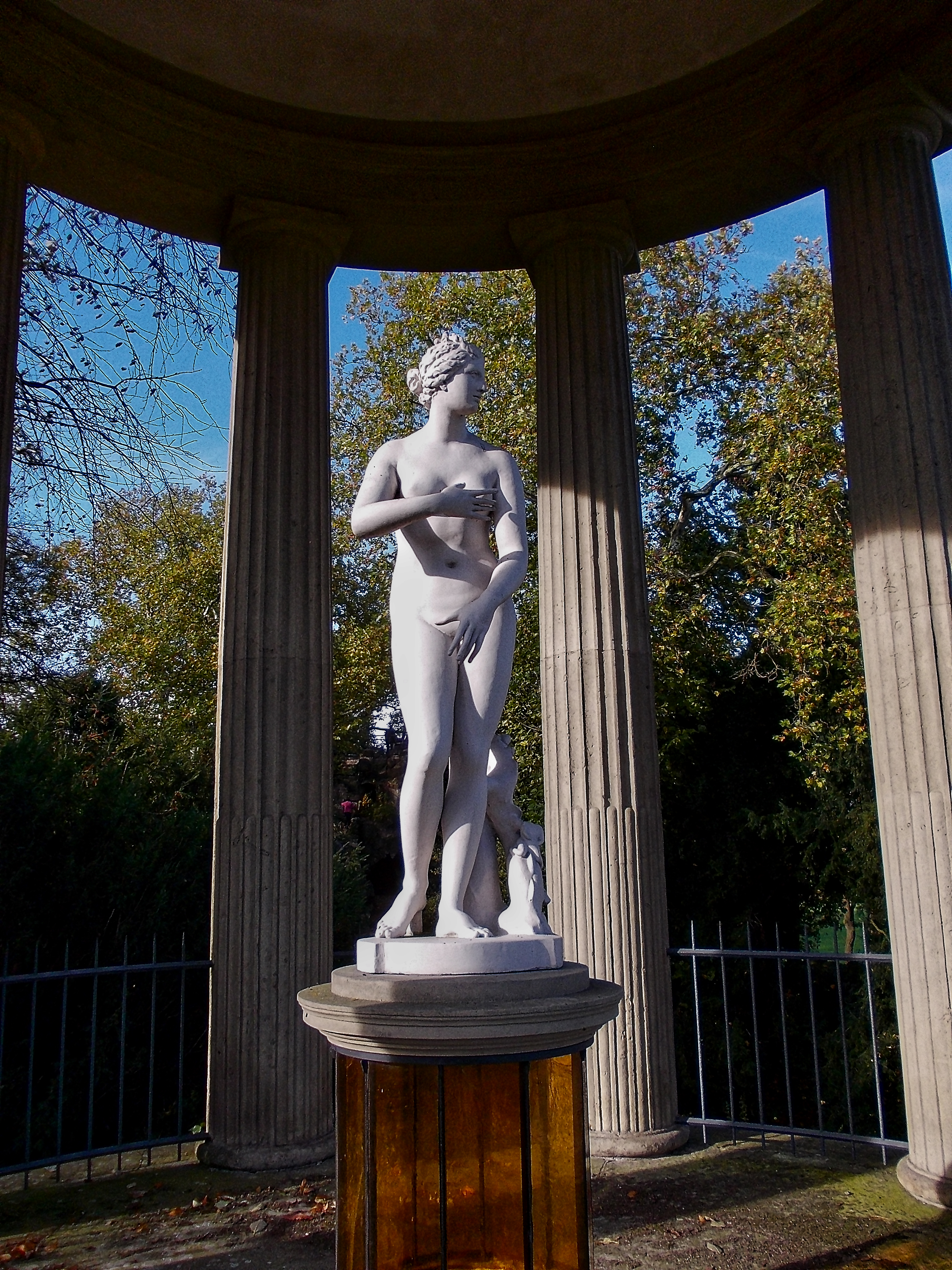 Der Venustempel im Wörlitzer Park (Detail)