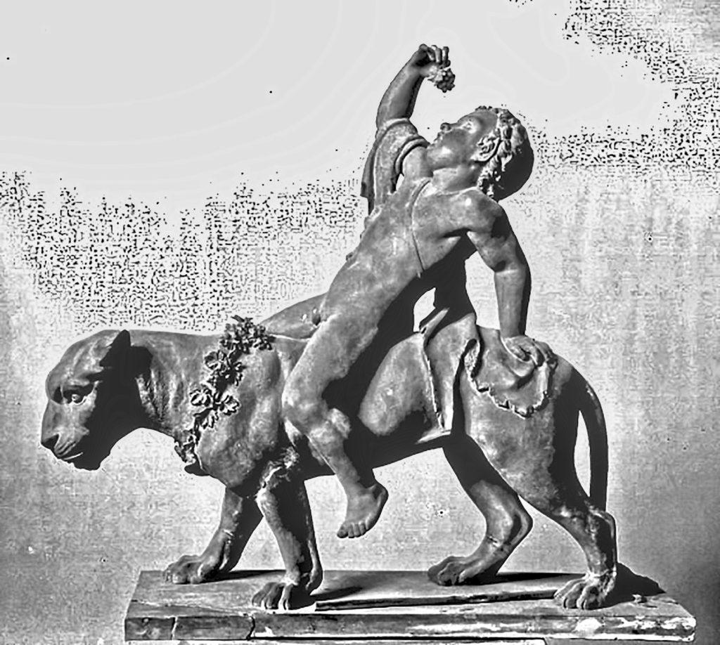 Andreas Johnsen Kolberg - en Bakkant ridende pa en Panter, 1843