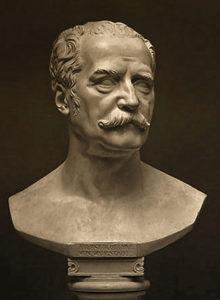 Field Marshal Blücher, Plaster cast, original modeled 1815, sculpted by Christian Daniel Rauch
