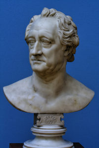 C D Rauch Bust of Goethe, Marble, Leipzig, Germany, marble, Leipzig, Germany