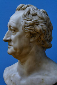 Rauch - sculpture of Goethe, Leipzig Museum of Fine Art, Saxony, Germany