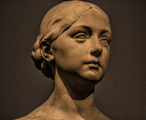 Portrait Bust of a Young Woman, bildhauer - Ernst Reitschel, Dresden