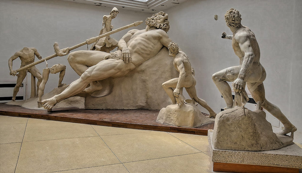 The Blinding of Polyphemus, cast reconstruction of the group, Sperlonga