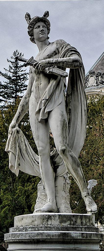 Ernst Gustav Herter - Hermes statue in front of the Hermesvilla in Vienna Glaspalast München, 1891