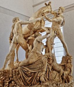 Farnese Bull Group - Napoli National Archaeology Museum - Greek Hellenistic Rhodian sculptors Apollonius of Tralles and his brother Tauriscus, end of the 2nd century BCE