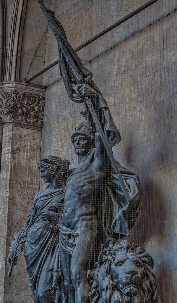 Feldherrnhalle München Bayerisches Armeedenkmal, Entwurf, Bildhauer - Ferdinand von Miller, 1892