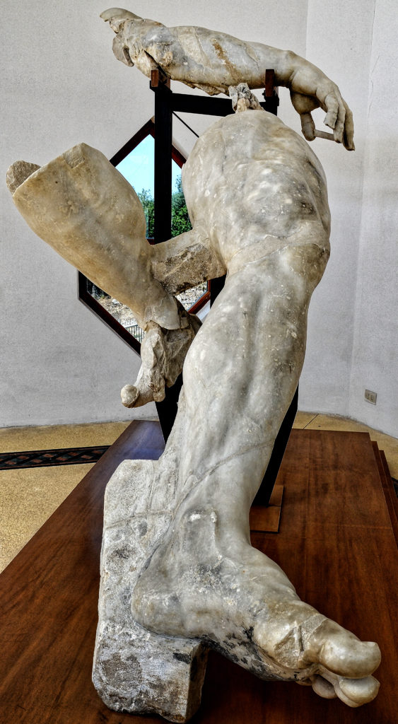 Fragment of the Cyclops - legs - front view, from the Blinding of Polyphemus group, Sperlonga