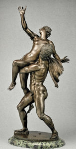 After a model by Giambologna, Netherlandish, Douai Florence, Rape of the Sabine Woman, cast probably 17th century, Bronze, marble pedestal, Height: 38 3/4 in. (98.4 cm); Base: 14 in. ? 9 1/8 in. (35.6 ? 23.2 cm). The Metropolitan Museum of Art, New York