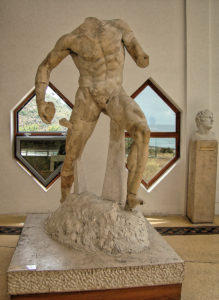 Polyphemus Group - Original marble, One of the Ulysses Companion, National Archaeology Museum of Sperlonga