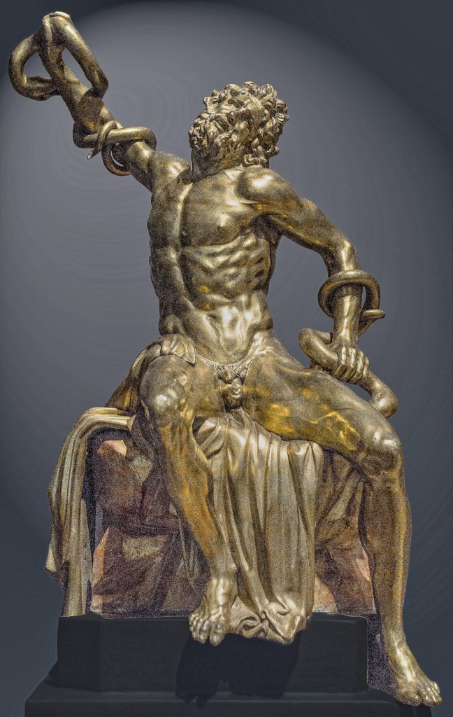Adriaen de Vries, Laocoon 1600-25, gilded bronze, 58 x 39.5 x 23.2 cm, Statens Museum for Art / National Gallery of Denmark, Copenhagen, Statens Museum for Art Copenhagen