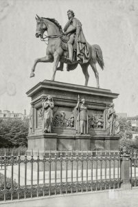 Kaiser Frederick Wilhelm III. Denkmal Königsberg sculptor August Karl Eduard Kaiser Frederick Wilhelm III. Denkmal Königsberg sculptor August Karl Eduard Kiß, monument ceremony 3 August 1851 in the presence of Prussian King Friedrich Wilhelm IV